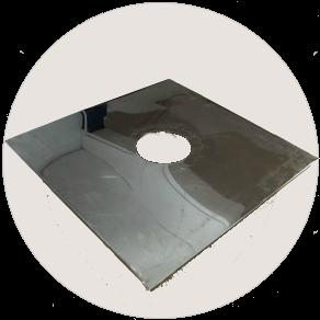 Пластина потолочно-проходного устройства