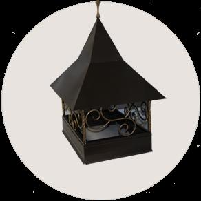 Дымник на трубу кованный декоративный
