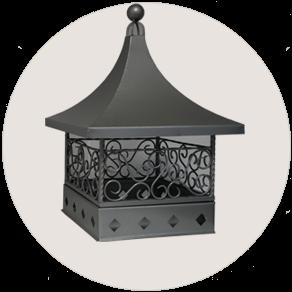 Дымник на трубу кованный в китайском стиле